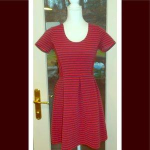 J crew sz 4 red blue striped empire waist dress